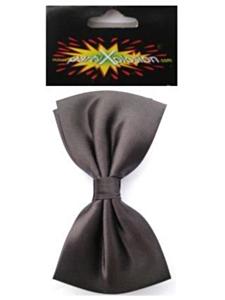 Vlinderstrik met elastiek satijn zwart
