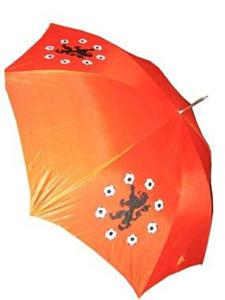 Oranje paraplu + leeuwen