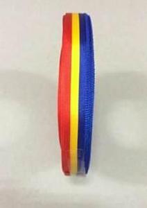 Medaille lint rood/geel/blauw 10 mm