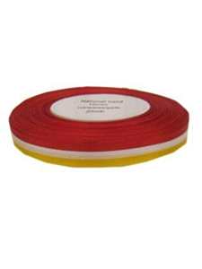 Medaille lint rood/wit/geel 10 mm