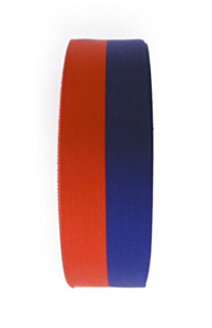 Medaille lint rood/blauw 25mm