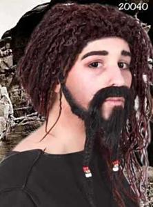 Snor+sik+wenkbrauw caraibische piraat