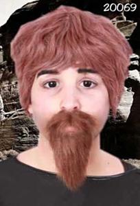 Snor + baard professor bruin