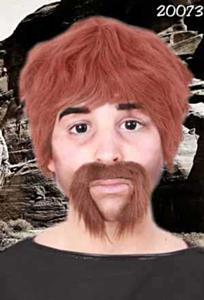 Snor macho man bruin