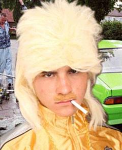 Herenpruik+matje blond