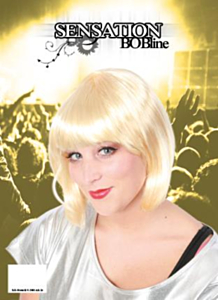 Pruik sensation bobline blond