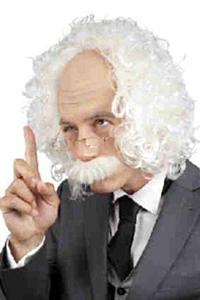 Schedel professor met snor en bril (einstein)
