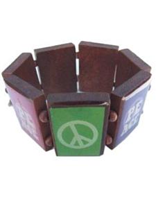 Armband peace hout