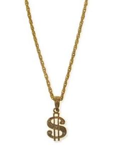 Collier dollar teken goud