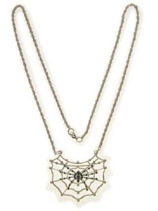 Collier spin in web zilver