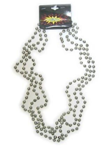 Parelketting zilver per 3  96 cm