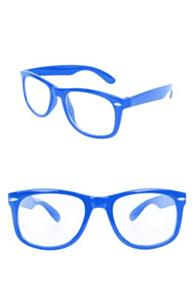 Blues brother bril blauw met blank glas