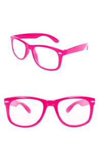 Blues brother bril pink met blank glas