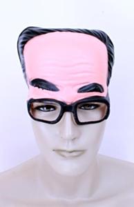 Schedel plastic man met bril