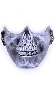 Halfmasker onderkaak skull zilver