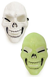 Masker skelet wit en UV-light 2 assorti