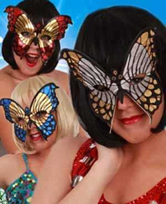 Oogmasker bonte vlinders ass. kleuren