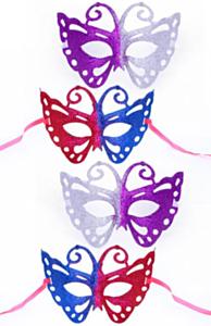 Oogmasker Vlinder 2 kleur glitter