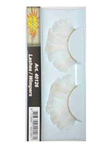 Wimpers veren wit