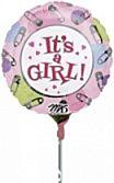 Folieballon Dots&Pins It'S A Girl
