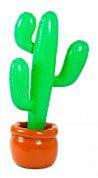 Opblaasbare Cactus in pot