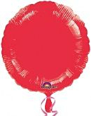 Folieballon Red Round