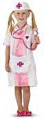 Roze verpleegster kindermaat S