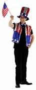 Amerika Set Man Gilet, Hoed & Strik