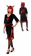 Jurk Zwart Rood Halloween S/M