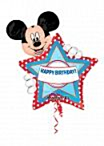 Folieballon Mickey hbday personalize