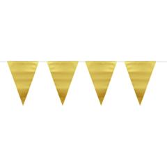 Vlaggenlijn metallic mat goud 6m