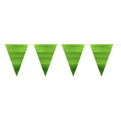 Vlaggenlijn metallic mat groen 6m