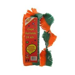Guirlande oranje/groen 24m