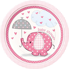 Borden Babyshower umbrellaphants roze