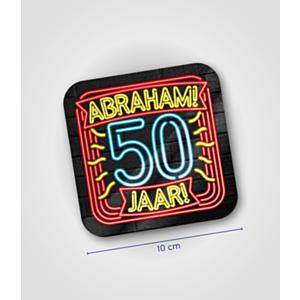 Neon onderzetters - Abraham