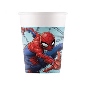 Marvel Spiderman 8 plastic bekers